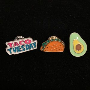 🌮 Taco Tuesday enamel pins